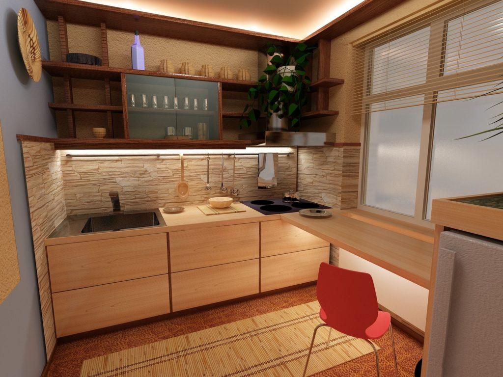 Мебель для маленькой кухни: