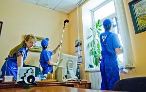 Уборка помещений - услуги в Москве