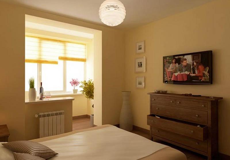 Дизайн спальни с лоджией рациональные варианты совмещения..